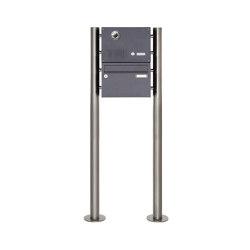 Basic | 1er Edelstahl Standbriefkasten Design BASIC Plus 385KX ST-R mit Klingel & Sprech- Kameravorbereitung | Mailboxes | Briefkasten Manufaktur