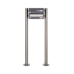 Basic | 1er Standbriefkasten Design BASIC 385 ST-R mit Klingelkasten - Edelstahl-RAL 7016 anthrazitgrau | Mailboxes | Briefkasten Manufaktur