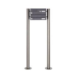 Basic | 1er Standbriefkasten Design BASIC 385 ST-R mit Klingelkasten - RAL 7016 anthrazitgrau | Mailboxes | Briefkasten Manufaktur