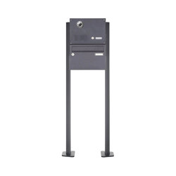 Basic | 1er Standbriefkasten Design BASIC Plus 385 KXP SP mit Klingel & Sprech - Kameravorbereitung | Mailboxes | Briefkasten Manufaktur