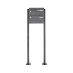 Basic | 1er Standbriefkasten Design BASIC Plus 385 XP 220 SP mit Klingelkasten - RAL nach Wahl | Mailboxes | Briefkasten Manufaktur