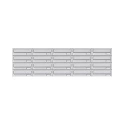 Basic | 20er 4x5 Edelstahl Aufputz Briefkastenanlage Design BASIC 385A AP | Mailboxes | Briefkasten Manufaktur