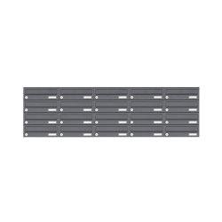 Basic | 20er 4x5 Edelstahl Aufputz Briefkastenanlage Design BASIC 385XA AP - RAL nach Wahl | Mailboxes | Briefkasten Manufaktur
