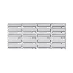 Basic | 20er 5x4 Edelstahl Aufputz Briefkastenanlage Design BASIC 385A AP | Mailboxes | Briefkasten Manufaktur