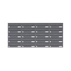 Basic | 20er 5x4 Edelstahl Aufputz Briefkastenanlage Design BASIC 385XA AP - RAL nach Wahl | Mailboxes | Briefkasten Manufaktur