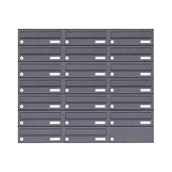 Basic | 20er 7x3 Aufputz Briefkastenanlage Design BASIC 385A-7016 AP - RAL 7016 anthrazitgrau | Mailboxes | Briefkasten Manufaktur
