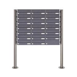 Basic | 20er Briefkastenanlage freistehend Design BASIC 385 ST-R - RAL 7016 anthrazitgrau | Mailboxes | Briefkasten Manufaktur