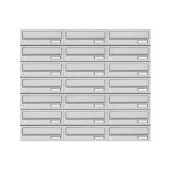 Basic | 21er 7x3 Aufputz Briefkastenanlage Design BASIC 385A- VA AP - Edelstahl V2A, geschliffen | Mailboxes | Briefkasten Manufaktur