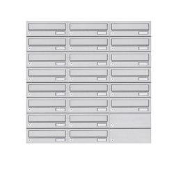 Basic | 22er 8x3 Aufputz Briefkastenanlage Design BASIC 385A- VA AP - Edelstahl V2A, geschliffen | Mailboxes | Briefkasten Manufaktur