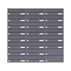 Basic | 22er 8x3 Aufputz Briefkastenanlage Design BASIC 385A-7016 AP - RAL 7016 anthrazitgrau | Mailboxes | Briefkasten Manufaktur