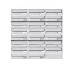 Basic | 23er 8x3 Aufputz Briefkastenanlage Design BASIC 385A- VA AP - Edelstahl V2A, geschliffen | Mailboxes | Briefkasten Manufaktur