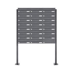 Basic | 23er Briefkastenanlage freistehend Design BASIC 385P-7016 ST-T - RAL 7016 anthrazitgrau | Mailboxes | Briefkasten Manufaktur