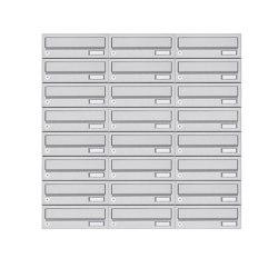 Basic | 24er 8x3 Aufputz Briefkastenanlage Design BASIC 385A- VA AP - Edelstahl V2A, geschliffen | Mailboxes | Briefkasten Manufaktur