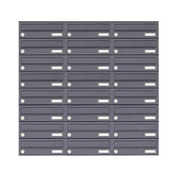 Basic | 24er 8x3 Aufputz Briefkastenanlage Design BASIC 385A-7016 AP - RAL 7016 anthrazitgrau | Mailboxes | Briefkasten Manufaktur