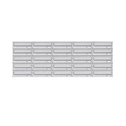 Basic | 25er 5x5 Edelstahl Aufputz Briefkastenanlage Design BASIC 385XA AP - Edelstahl V2A | Mailboxes | Briefkasten Manufaktur