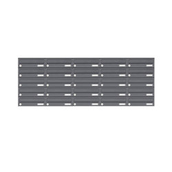 Basic | 25er 5x5 Edelstahl Aufputz Briefkastenanlage Design BASIC 385XA AP - RAL nach Wahl | Mailboxes | Briefkasten Manufaktur