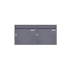 Basic | 2er 1x2 Aufputz Briefkasten Design BASIC 382A AP - DB703 eisenglimmer 100mm Tiefe | Mailboxes | Briefkasten Manufaktur