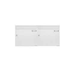Basic | 2er 1x2 Aufputz Briefkastenanlage Design BASIC 382A AP - RAL 9016 verkehrsweiß 100mm Tiefe | Mailboxes | Briefkasten Manufaktur