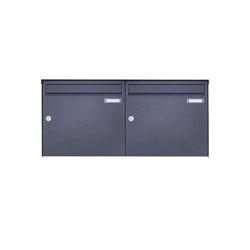 Basic | 2er 1x2 Edelstahl Aufputz Briefkasten Design BASIC Plus 382XA AP - RAL nach Wahl 100mm Tiefe | Mailboxes | Briefkasten Manufaktur