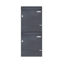 Basic | 2er 2x1 Aufputz Briefkasten BASIC 382A AP mit Zeitungsfach - RAL 7016 anthrazitgrau | Mailboxes | Briefkasten Manufaktur