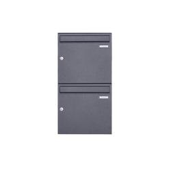 Basic | 2er 2x1 Aufputz Briefkasten Design BASIC 382A AP - DB703 eisenglimmer 100mm Tiefe | Mailboxes | Briefkasten Manufaktur