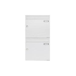 Basic | 2er 2x1 Aufputz Briefkastenanlage Design BASIC 382A AP - RAL 9016 verkehrsweiß 100mm Tiefe | Mailboxes | Briefkasten Manufaktur