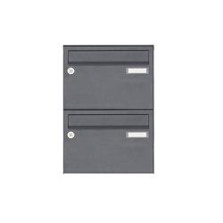Basic | 2er Aufputz Briefkastenanlage Design BASIC 385 A 220 - RAL 7016 anthrazitgrau feinstruktur matt | Mailboxes | Briefkasten Manufaktur