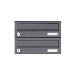 Basic | 2er Aufputz Briefkastenanlage Design BASIC 385A AP - RAL 7016 anthrazitgrau | Mailboxes | Briefkasten Manufaktur