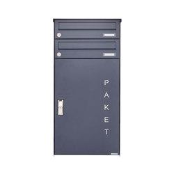 Basic   2er Aufputz Paketbriefkasten BASIC 863 AP mit Paketfach 550x370 in RAL 7016 anthrazitgrau   Mailboxes   Briefkasten Manufaktur
