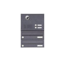 Basic | 2er Aufputzbriefkasten BASIC Plus 385 KXA SP mit Klingelkasten - Kameravorbereitung | Mailboxes | Briefkasten Manufaktur