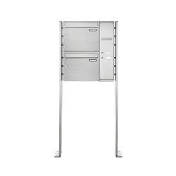 Basic | 2er Edelstahl Standbriefkasten BASIC Plus 592C ST-P - Klingelkasten - INDIVIDUELL Rechts | Mailboxes | Briefkasten Manufaktur