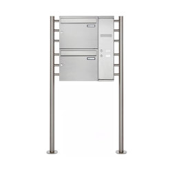 Basic | 2er Edelstahl Standbriefkasten BASIC Plus 593 ST-R - Klingelkasten - INDIVIDUELL Rechts | Mailboxes | Briefkasten Manufaktur