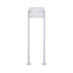 Basic | 2er Standbriefkasten Design BASIC 385P-9016 ST-T - RAL 9016 verkehrsweiß | Mailboxes | Briefkasten Manufaktur