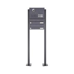 Basic | 2er Standbriefkasten Design BASIC Plus 385 KXP SP mit Klingel & Sprech - Kameravorbereitung | Mailboxes | Briefkasten Manufaktur
