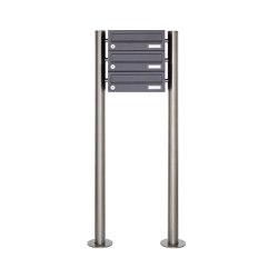 Basic | 3er Briefkastenanlage freistehend Design BASIC 385 ST-R - RAL 7016 anthrazitgrau | Mailboxes | Briefkasten Manufaktur