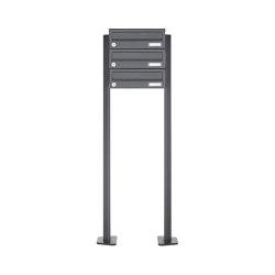 Basic   3er Briefkastenanlage freistehend Design BASIC 385P ST-T - RAL 7016 anthrazitgrau   Mailboxes   Briefkasten Manufaktur