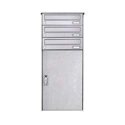 Basic | 3er Edelstahl Aufputz Paketbriefkasten BASIC 863 AP mit Paketfach 550x370 | Mailboxes | Briefkasten Manufaktur