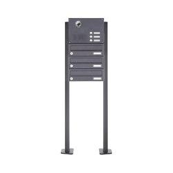 Basic | 3er Standbriefkasten Design BASIC Plus 385 KXP SP mit Klingel & Sprech - Kameravorbereitung | Mailboxes | Briefkasten Manufaktur