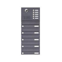Basic | 5er Aufputzbriefkasten BASIC Plus 385 KXA SP mit Klingelkasten - Kameravorbereitung | Mailboxes | Briefkasten Manufaktur