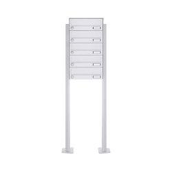 Basic   5er Standbriefkasten Design BASIC 385P-9016 ST-T - RAL 9016 verkehrsweiß   Mailboxes   Briefkasten Manufaktur