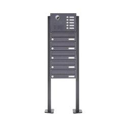 Basic | 5er Standbriefkasten Design BASIC Plus 385 KXP SP mit Klingel & Sprech - Kameravorbereitung | Mailboxes | Briefkasten Manufaktur