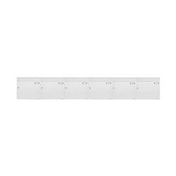 Basic   6er 1x6 Aufputz Briefkastenanlage Design BASIC 382A AP - RAL 9016 verkehrsweiß 100mm Tiefe   Mailboxes   Briefkasten Manufaktur