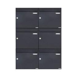 Basic | 6er 2x3 Aufputz Briefkasten Design BASIC 382A AP - RAL 7016 anthrazitgrau 100mm Tiefe | Mailboxes | Briefkasten Manufaktur
