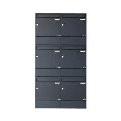 Basic | 6er 3x2 Aufputz Briefkasten BASIC 382A AP mit Zeitungsfach - RAL 7016 anthrazitgrau | Mailboxes | Briefkasten Manufaktur