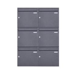 Basic   6er 3x2 Aufputz Briefkastenanlage Design BASIC 382A AP - DB703 eisenglimmer 100mm Tiefe   Mailboxes   Briefkasten Manufaktur