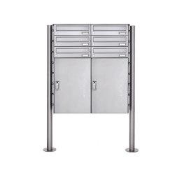 Basic   6er 3x2 Edelstahl Paketbriefkasten freistehend BASIC 863 ST-R mit Paketfach 550x370   Mailboxes   Briefkasten Manufaktur