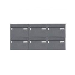 Basic   6er Aufputz Briefkastenanlage Design BASIC 385 A 220 - RAL 7016 anthrazitgrau   Mailboxes   Briefkasten Manufaktur