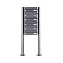 Basic | 6er Briefkastenanlage freistehend Design BASIC 385 ST-R - RAL 7016 anthrazitgrau | Mailboxes | Briefkasten Manufaktur