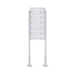 Basic   6er Standbriefkasten Design BASIC 385P-9016 ST-T - RAL 9016 verkehrsweiß   Mailboxes   Briefkasten Manufaktur