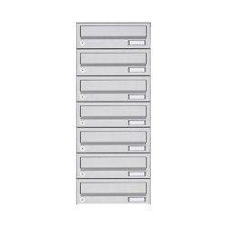 Basic   7er Aufputz Briefkastenanlage Design BASIC 385A AP - Edelstahl V2A, geschliffen   Mailboxes   Briefkasten Manufaktur